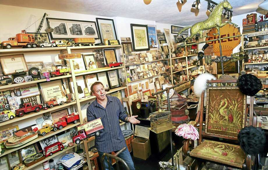 Robert S. Greenberg, a New Haven historian, artist and preservation who has a business full of memorabilia and a museum in the Acme Furniture building at 33 Crown Street in New Haven. The much of the memorabilia in the museum focuses on the history of New Haven. Photo: Peter Hvizdak — New Haven Register   / ©2016 Peter Hvizdak