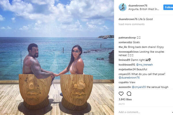 Duane Brown spent part of his offseason vacationing with his wife Devi in Anguilla, British West Indies.