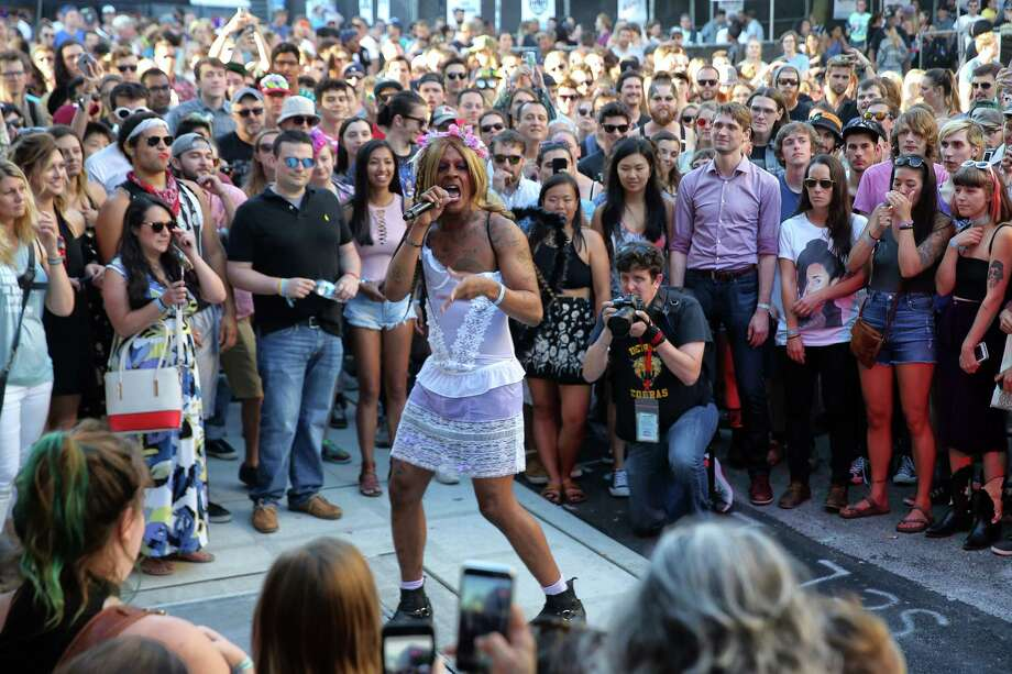 Mykki Blanco performs on the third day of Capitol Hill Block Party on Sunday, July 23, 2017. Photo: GENNA MARTIN, SEATTLEPI.COM / SEATTLEPI.COM