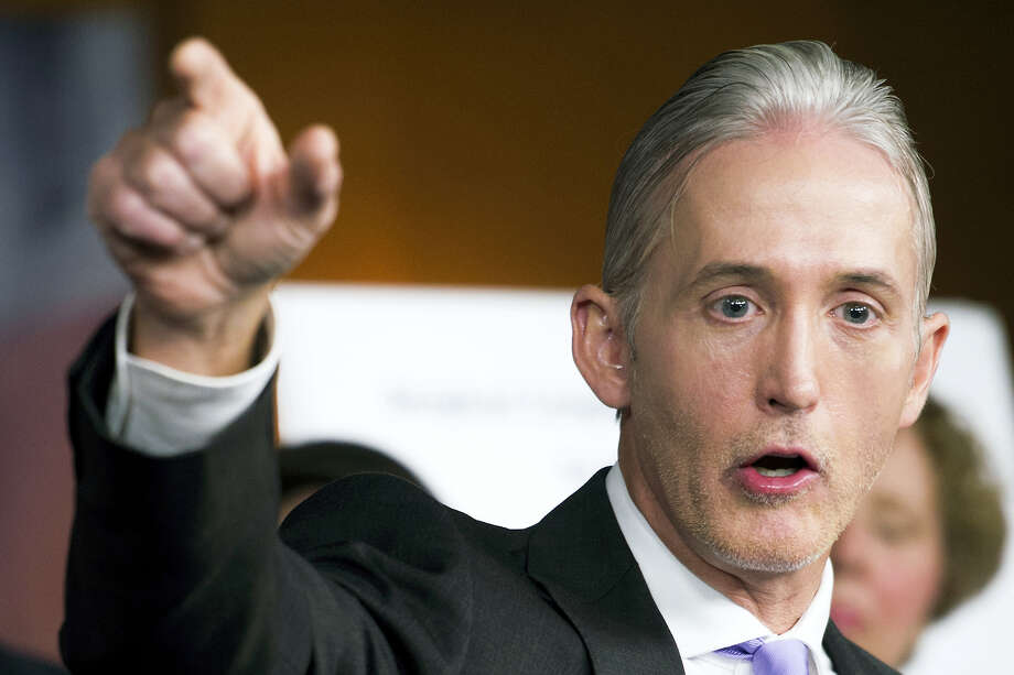 House Benghazi Committee Chairman Rep. Trey Gowdy, R-South Carolina, discusses the release of his final report on the 2012 attacks on the U.S. consulate in Benghazi, Libya, Tuesday during a news conference on Capitol Hill in Washington. Photo: ASSOCIATED PRESS   / (C)Cliff Owen