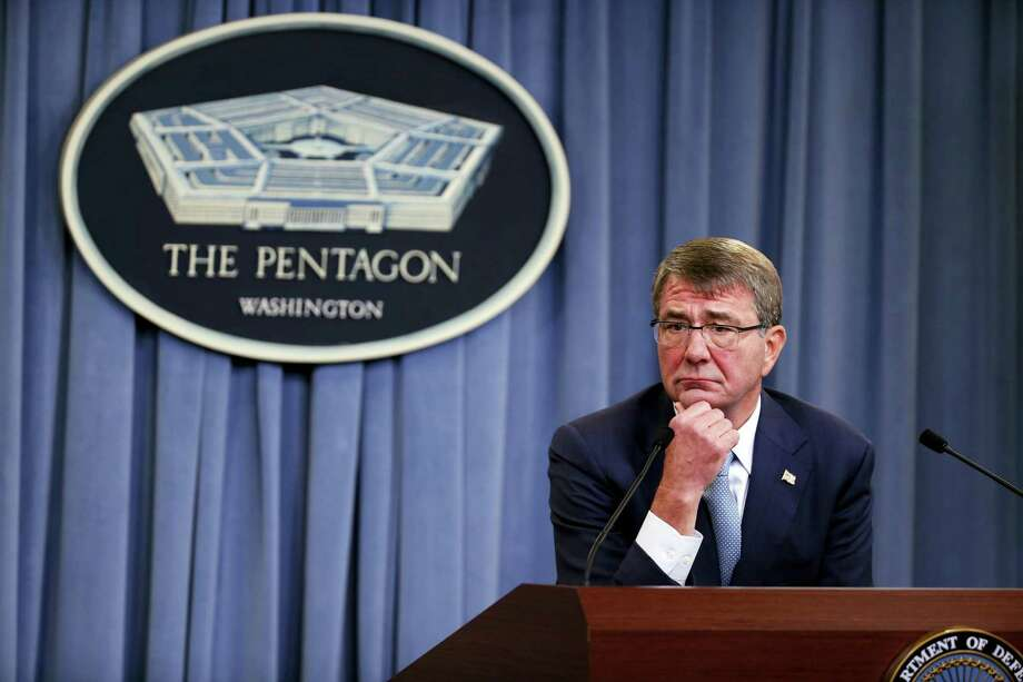 Defense Secretary Ash Carter listens to a question during a news conference at the Pentagon on June 30, 2016, where he announced new rules allowing transgender individuals to serve openly in the U.S. military. Photo: AP Photo/Alex Brandon   / Copyright 2016 The Associated Press. All rights reserved. This material may not be published, broadcast, rewritten or redistribu