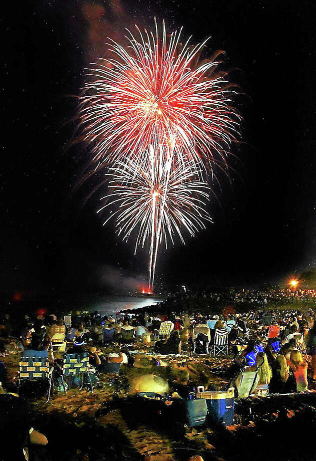 Fireworks at the Savin Rock beach area of West Haven. Photo: File Photo