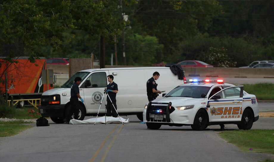 A woman was hit and dragged to her death in northeast Harris County Monday, July 24, 2017, in Houston. She was dragged more than 600 feet according to ABC-13 reports and was found on Northington Drive between the EastTex Freeway feeder and Hillside Drive. The feeder road has been shut down both ways. Photo: Steve Gonzales, Houston Chronicle / © 2017 Houston Chronicle