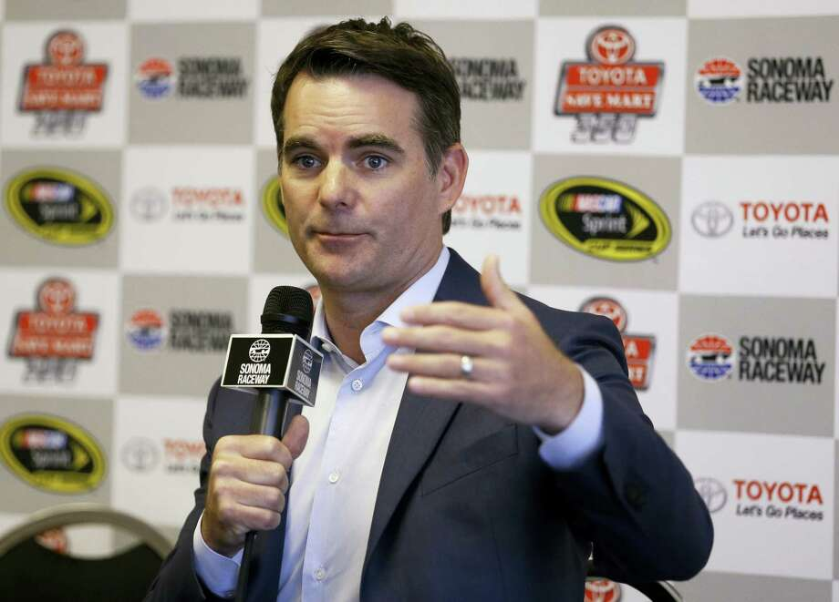 Jeff Gordon gestures during a media conference prior to the qualifying session for the NASCAR Sprint Cup Series auto race on Saturday in Sonoma, Calif. Photo: Ben Margot — The Associated Press   / Copyright 2016 The Associated Press. All rights reserved. This material may not be published, broadcast, rewritten or redistribu