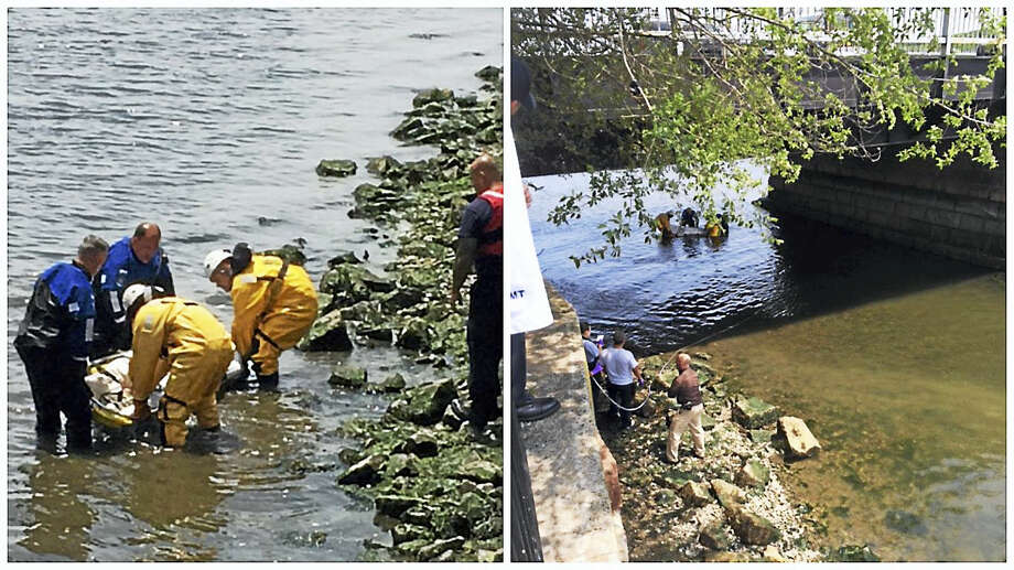 New Haven and state authorities recovered an unidentified woman's body from the Quinnipiac River in New Haven Sunday, May 29, 2016. (Photo courtesy of New Haven Police Department) Photo: Journal Register Co.