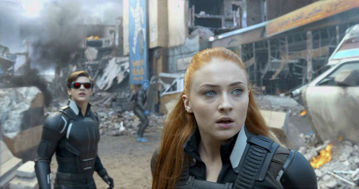 """In this image released by Twentieth Century Fox, Tye Sheridan, left, and Sophie Turner appear in a scene from, """"X-Men: Apocalypse."""""""