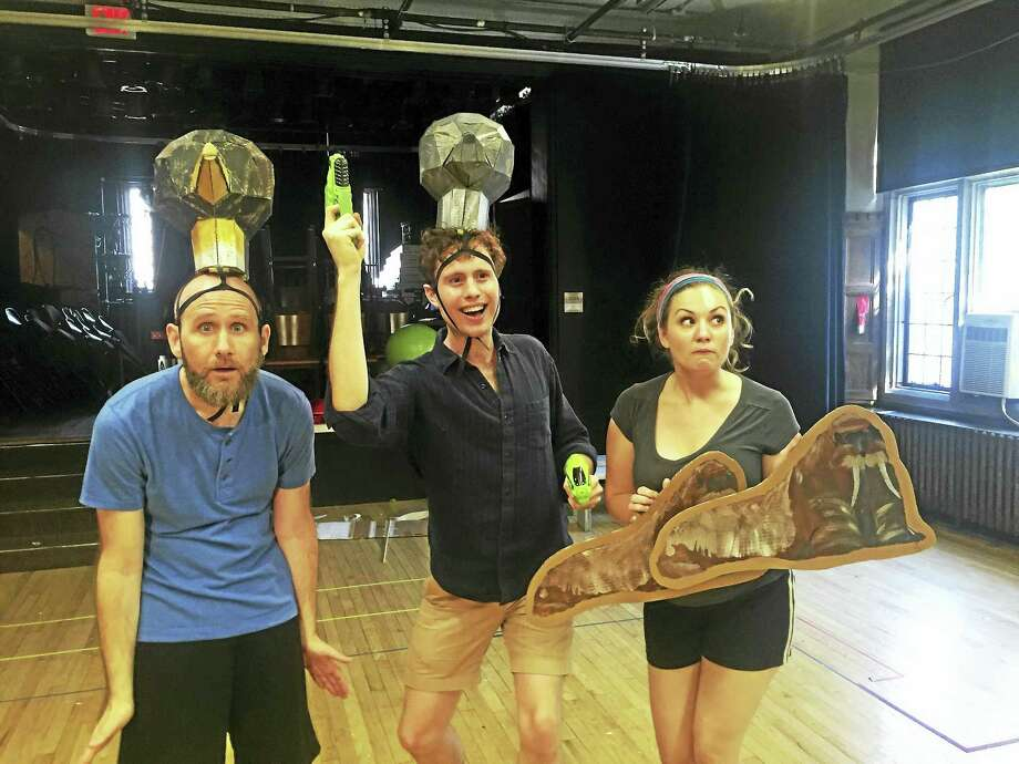 "Rehearsal for ""Antarctica! Which Is To Say Nowhere."" Photo: Contributed"