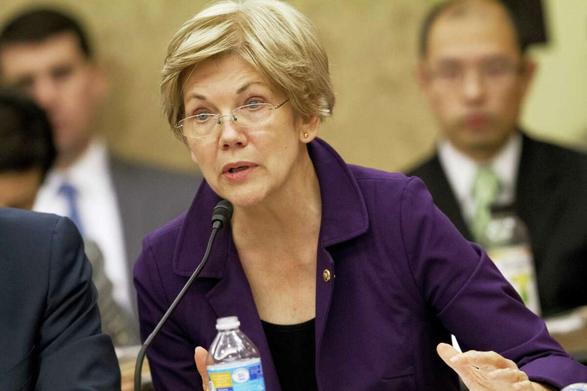 In this Nov. 18, 2015, file photo, Sen. Elizabeth Warren, D-Mass., speaks to a conference on Capitol Hill in Washington.