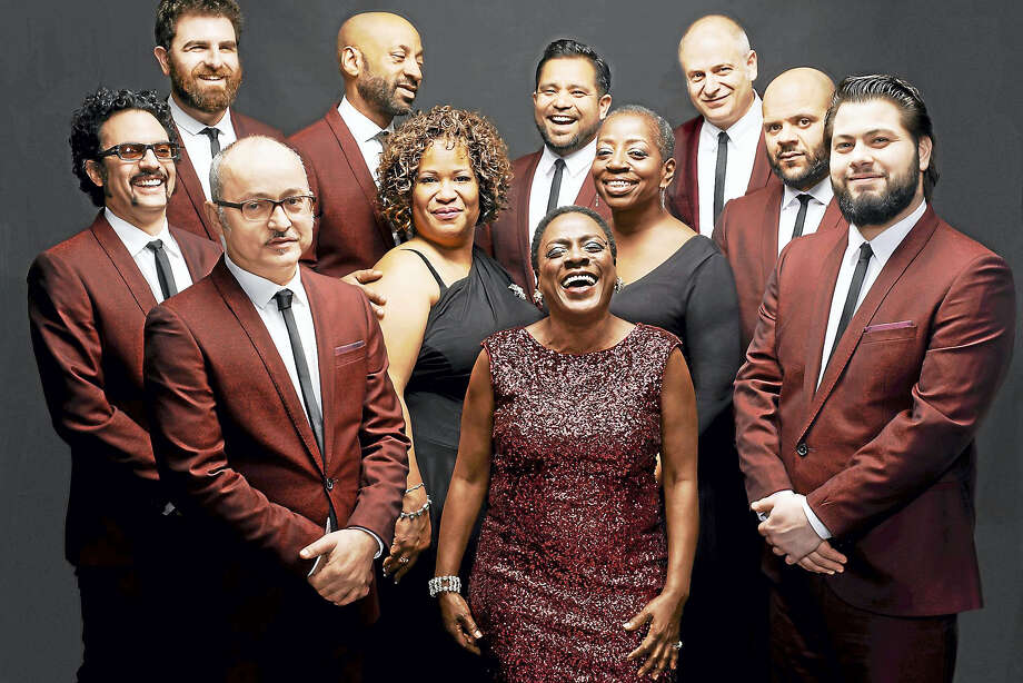 Sharon Jones, center front, and the Dap Kings. Photo: Jacob Blikenstaff   / © Jacob Blickenstaff 2014?