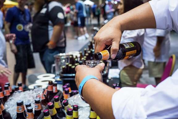 The 2017 BrewMasters Craft Beer Festival will take place Sept. 1-3 in Galveston. The eighth annual festival will feature 400 craft beers, tequila tasting, a pub crawl, and other events aimed at craft beer enthusiasts. Shown: Scenes from BrewMasters.