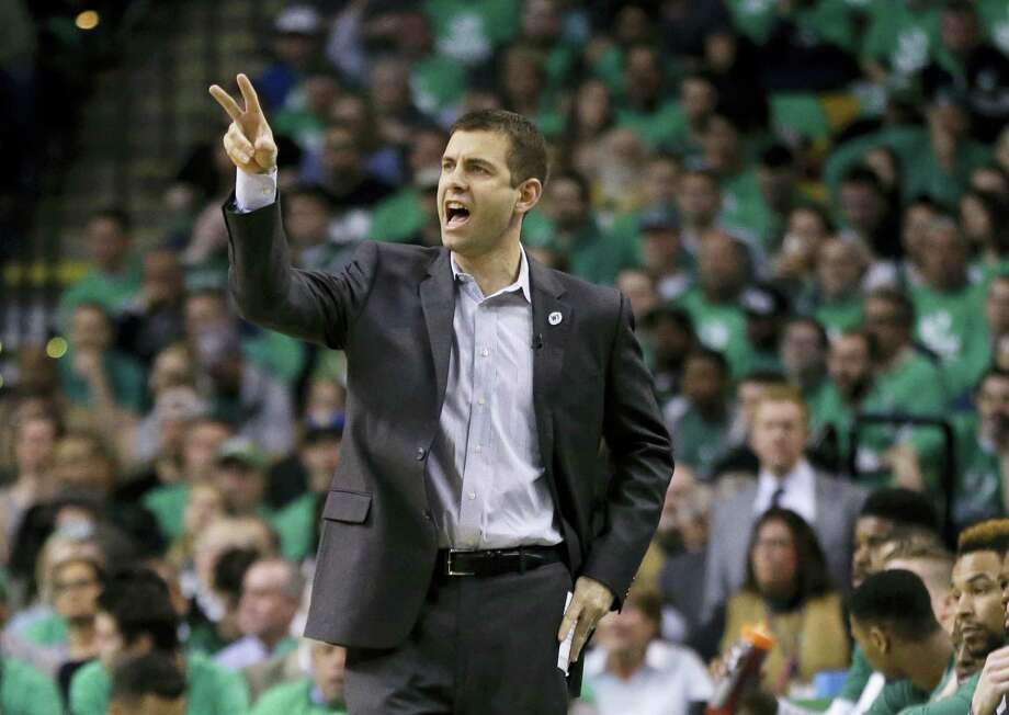 Celtics head coach Brad Stevens calls a play during a playoff game against the Hawks. Photo: The Associated Press File Photo   / Copyright 2016 The Associated Press. All rights reserved. This material may not be published, broadcast, rewritten or redistributed without permission.