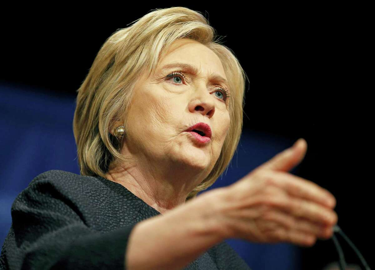 Democratic presidential candidate Hillary Clinton speaks at a United Food and Commercial Workers International union Legislative and Political Affairs conference Thursday in Las Vegas.