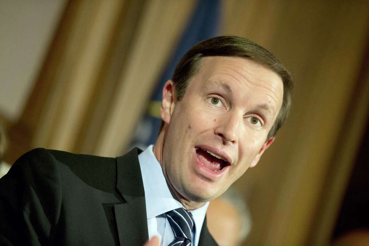 Sen. Chris Murphy, D-Conn., speaks during a media availability on Capitol Hill on Monday, June 20, 2016 in Washington. A divided Senate blocked rival election-year plans to curb guns on Monday, eight days after the horror of Orlando's mass shooting intensified pressure on lawmakers to act but knotted them in gridlock anyway — even over restricting firearms for terrorists.