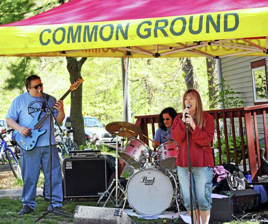 A band plays during a past Rock to Rock Earth Day Ride. Photo: Contributed