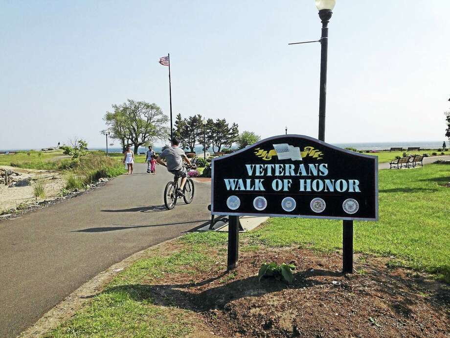 The West Haven Veterans Council and the city will dedicate the ninth phase of the brick Veterans Walk of Honor at 5 p.m. Saturday at Bradley Point Park. Photo: Mark Zaretsky — New Haven Register