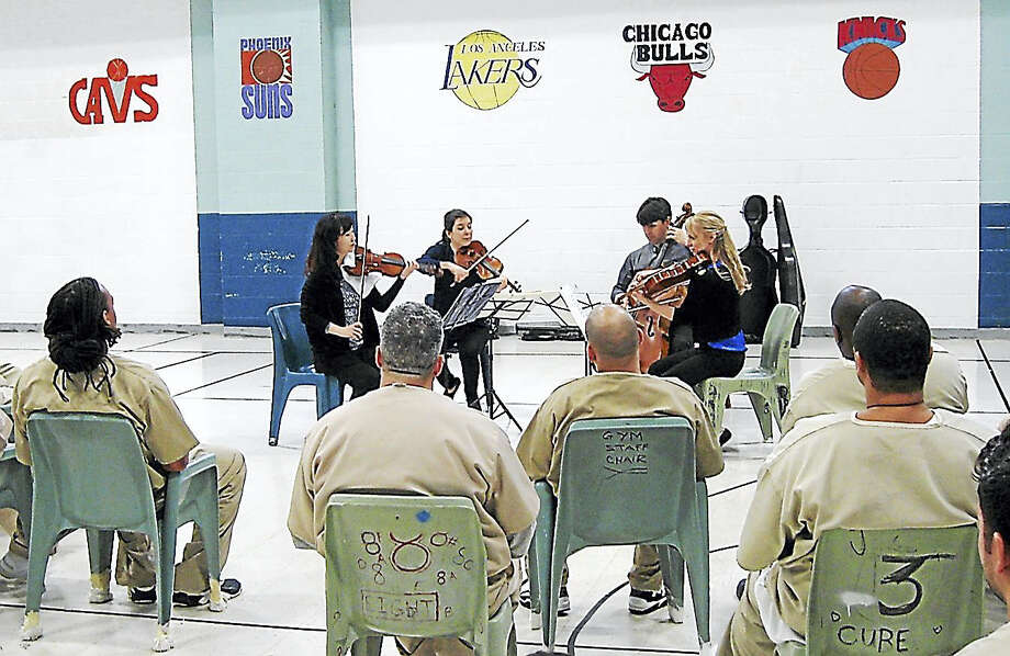 "The Solera Quartet plays a ""healing concert"" at the Corrigan-Radgowski Correctional Center in Uncasville. Photo: Contributed Photo"