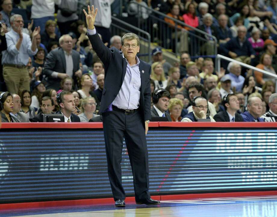 UConn head coach Geno Auriemma is uncertain why people demean the success of his program, which is making its ninth straight trip to the Final Four. Photo: Jessica Hill — The Associated Press   / AP2016