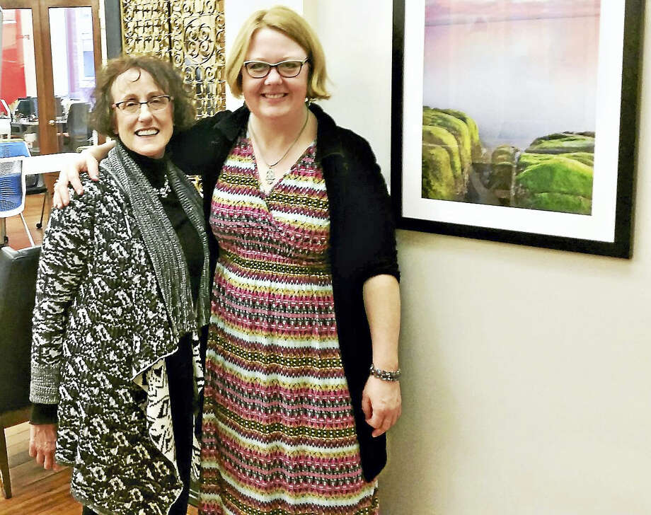 Fran McMullen and Elinor Slomba of Arts Interstices Photo: Jason C. Diaz — New Haven Register