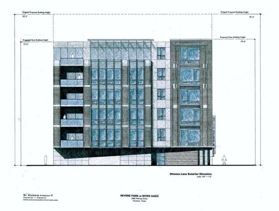 A new six-story condominium complex is planned for the River Oaks area. Photo: Di Nunzio Architecture