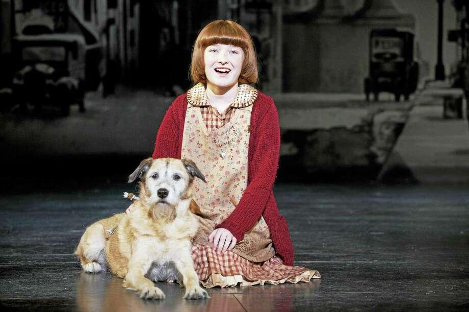 Heidi Gray as Annie, with Macy as Sandy. Photo: Photo Courtesy Of Joan Marcus   / ©201 Joan Marcus?