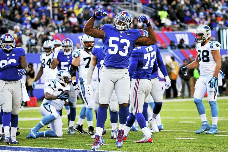 Giants linebacker Jasper Brinkley. Photo: The Associated Press File Photo   / AP