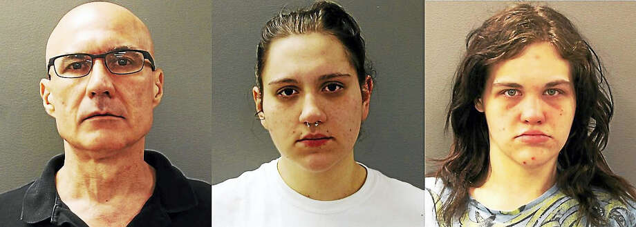 Dante Franchi, Brittany St. Vincent and Angelica McLaughlin Photo: Photo Courtesy Of The Hamden Police Department