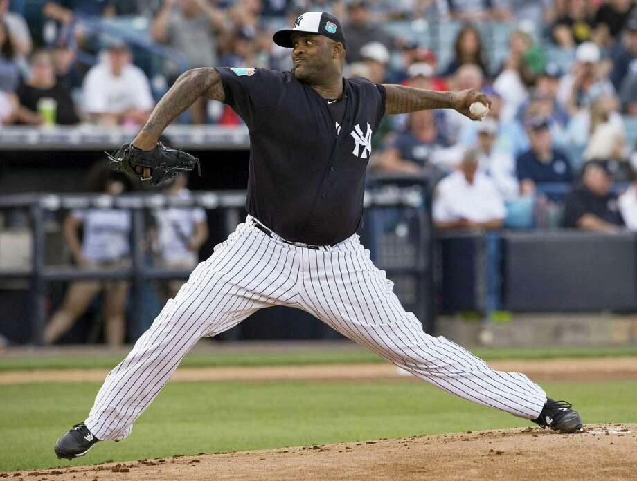 CC Sabathia pitches during a spring training game earlier this season. Photo: The Associated Press File Photo   / FR69810 AP