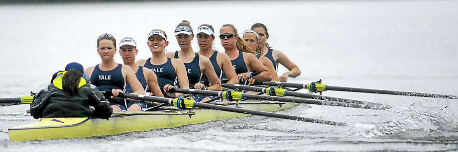 Yale's varsity eight will look for a strong finish at this weekend's NCAA championships. Photo: Photo Courtesy Of Yale Athletics