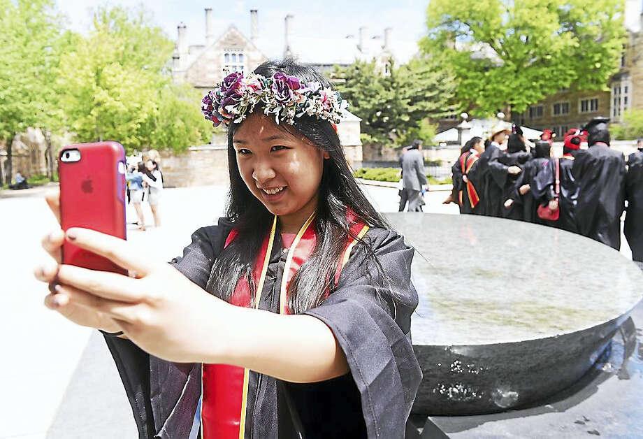 Yale University Class Day Exercises in New Haven on Sunday. Photo: Photo By Arnold Gold — New Haven Register