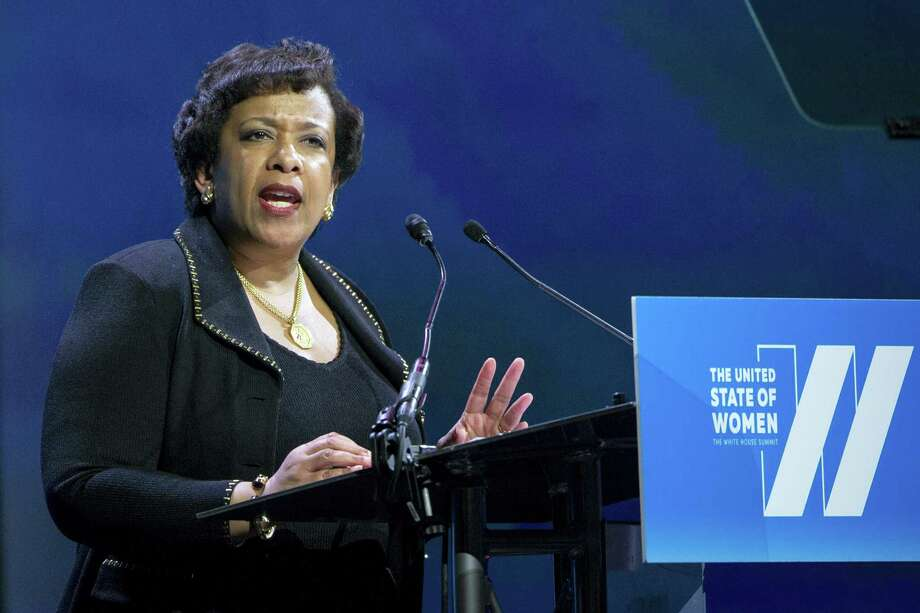 Attorney General Loretta Lynch addresses the White House Summit on the United State of Women in Washington on June 14, 2016. Photo: AP Photo/Cliff Owen   / Cliff Owen