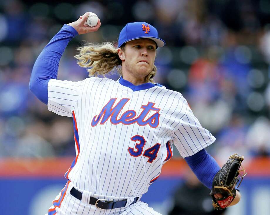 Noah Syndergaard struck out 11 on Sunday to help lift the Mets past the Brewers. Photo: Kathy Willens — The Associated Press   / Copyright 2016 The Associated Press. All rights reserved. This material may not be published, broadcast, rewritten or redistribu