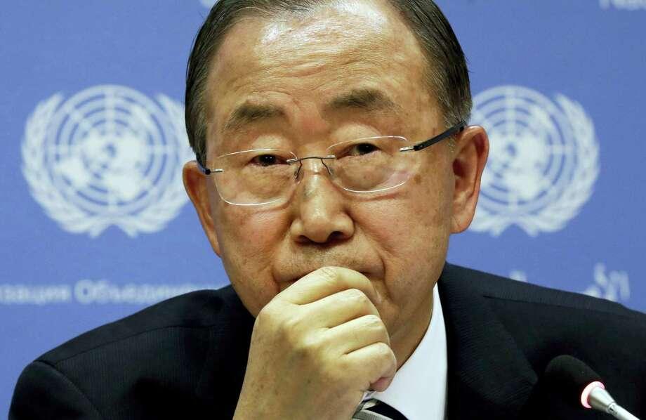 U.N. Secretary General Ban Ki-moon Photo: FILE Photo   / AP