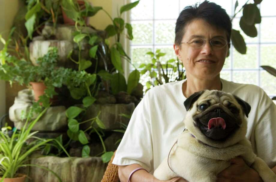 DAILY RECORD/SUNDAY NEWS — KATE PENN   In this file photo, Barbara Coeyman and her pug Daisy of Chanceford Township at the East York Veterinary Center in York, Pa. Daisy was treated for lyme disease earlier this year. Photo taken Wednesday, May 20, 2009.