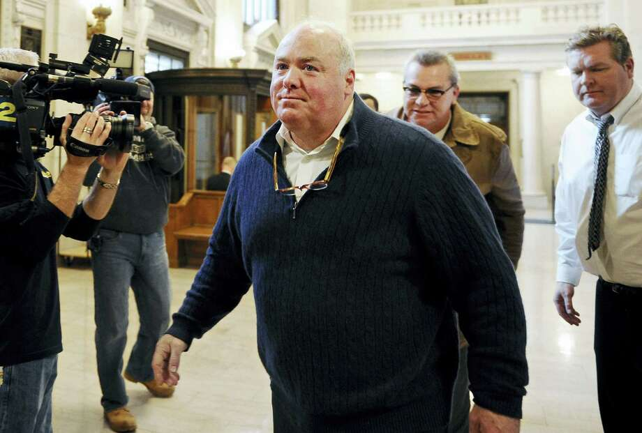 ASSOCIATED PRESS  Michael Skakel enters the state Supreme Court for a hearing Feb. 24  in Hartford. Photo: AP / FR125654 AP