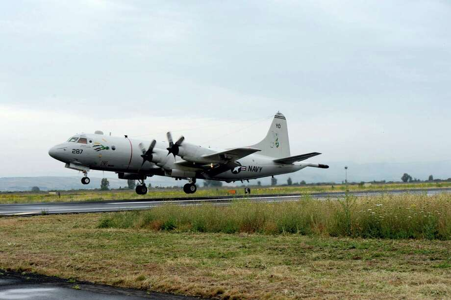 This U.S Navy photo shows a P-3 Orion maritime patrol aircraft from Patrol Squadron (VP) Four taxis at Naval Air Station Sigonella, Sicily in preparation to take off in support of the search for Egyptair flight MS804. Search crews found human remains, luggage and passenger seats Friday from the EgyptAir jetliner that fell out of the sky over the Mediterranean Sea, as investigators tried to determine whether the disaster was the work of terrorists. Photo: U.S. Navy Photo By Mass Communication Specialist 1st Class Tony D. Curtis Via AP / Public Domain