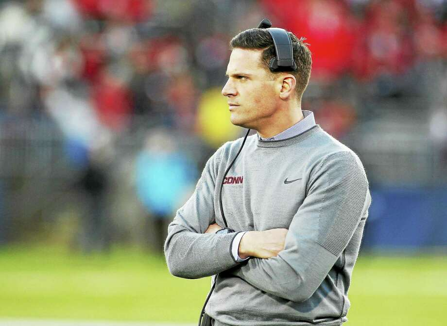 Connecticut head coach Bob Diaco during the first quarter of an NCAA college football game against Houston Saturday, Nov. 21, 2015, in East Hartford, Conn. (AP Photo/Stew Milne) Photo: AP / FR56276 AP