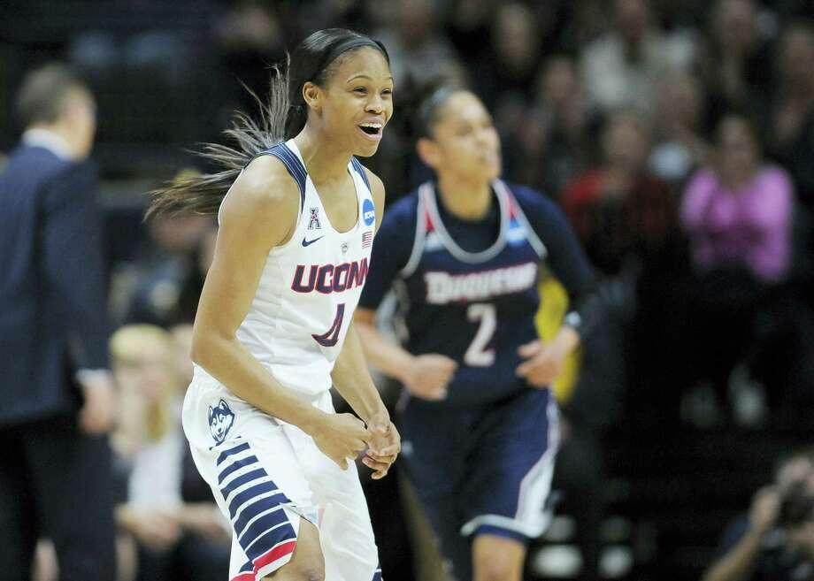 Moriah Jefferson and the UConn women's basketball team will face Mississippi State on Saturday in an NCAA tournament regional semifinal in Bridgeport. Photo: Jessica Hill — The Associated Press   / AP2016