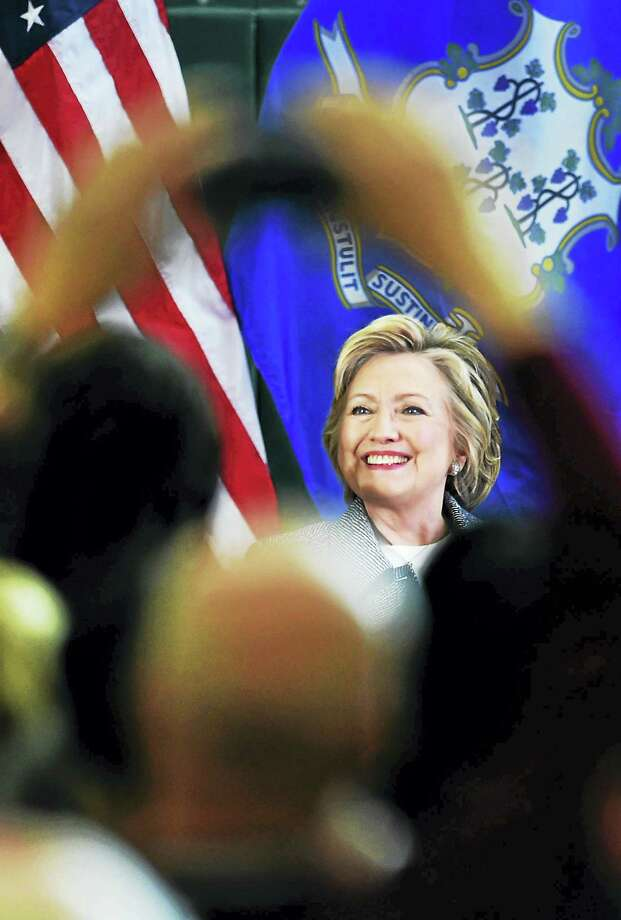 Democratic presidential candidate Hillary Clinton is greeted with applause as she makes a stop at the Wilson-Gray YMCA in Hartford Thursday. Photo: Peter Hvizdak — New Haven Register   / ?2016 Peter Hvizdak