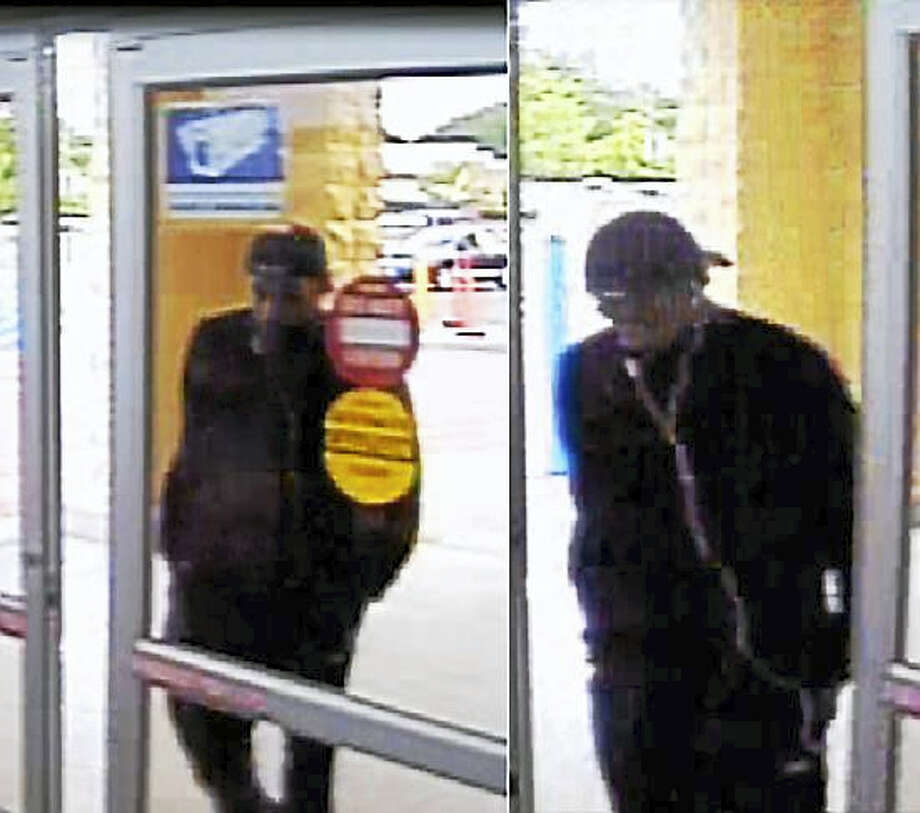 Police are looking for this man who allegedly held up the Walmart at 1365 Boston Post Road early Thursday. The man implied he had a weapon during the holdup. Photo: Photo Courtesy Of The Milford Police Department