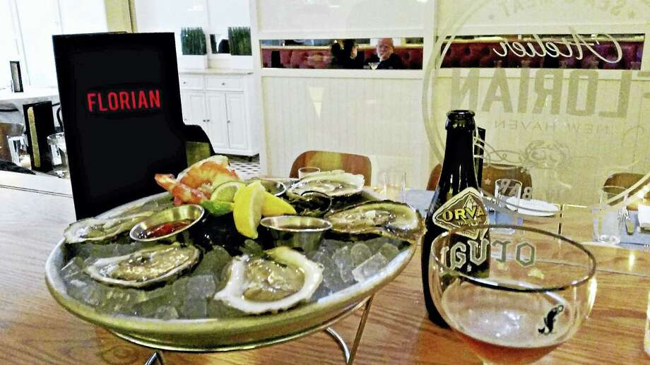 Atelier Florian offers $1 oysters for happy hour Photo: Jason C. Diaz - New Haven Register