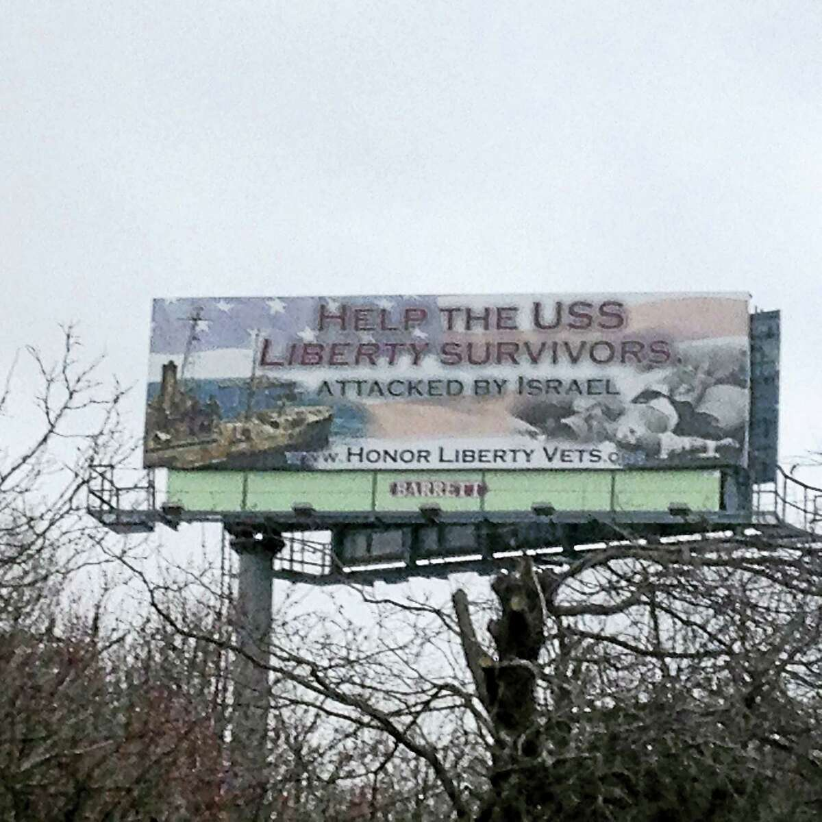 A billboard on I-95 in West Haven between exits 40 and 41 is stirring controversy.