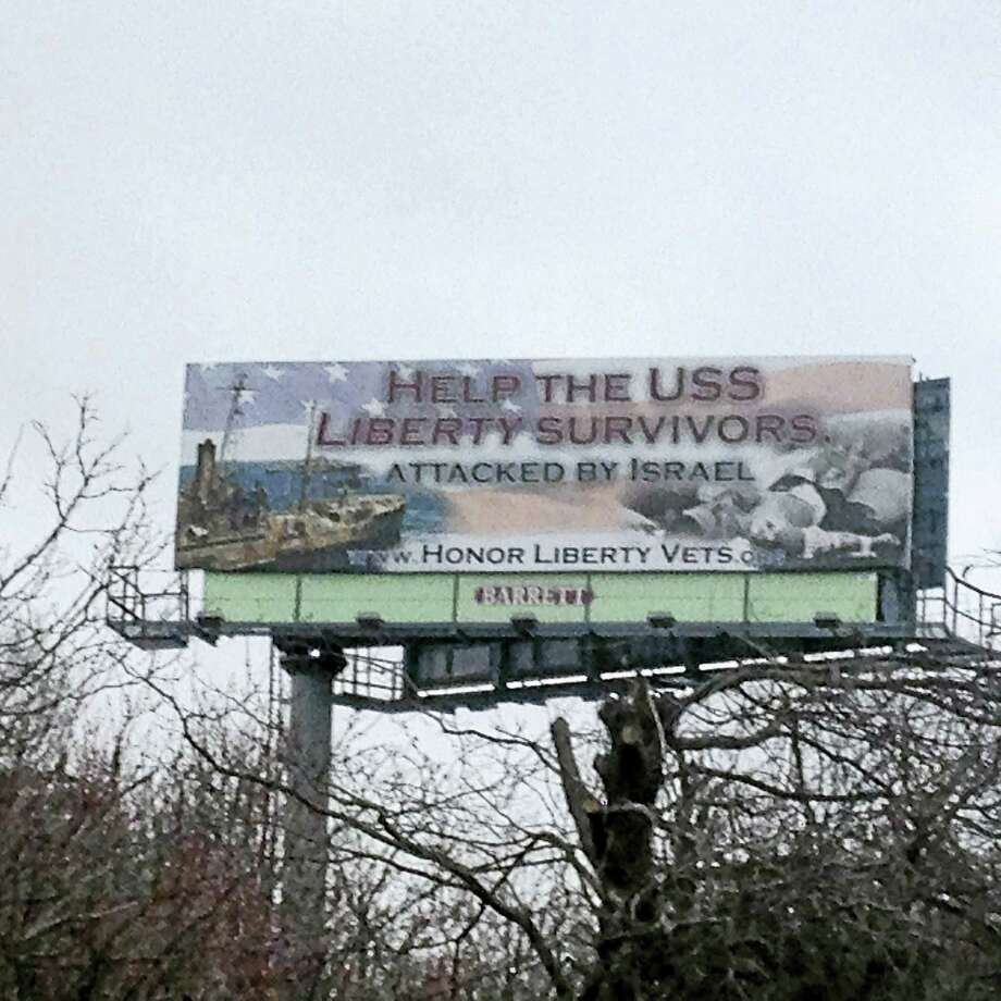 A billboard on I-95 in West Haven between exits 40 and 41 is stirring controversy. Photo: Contributed Photo