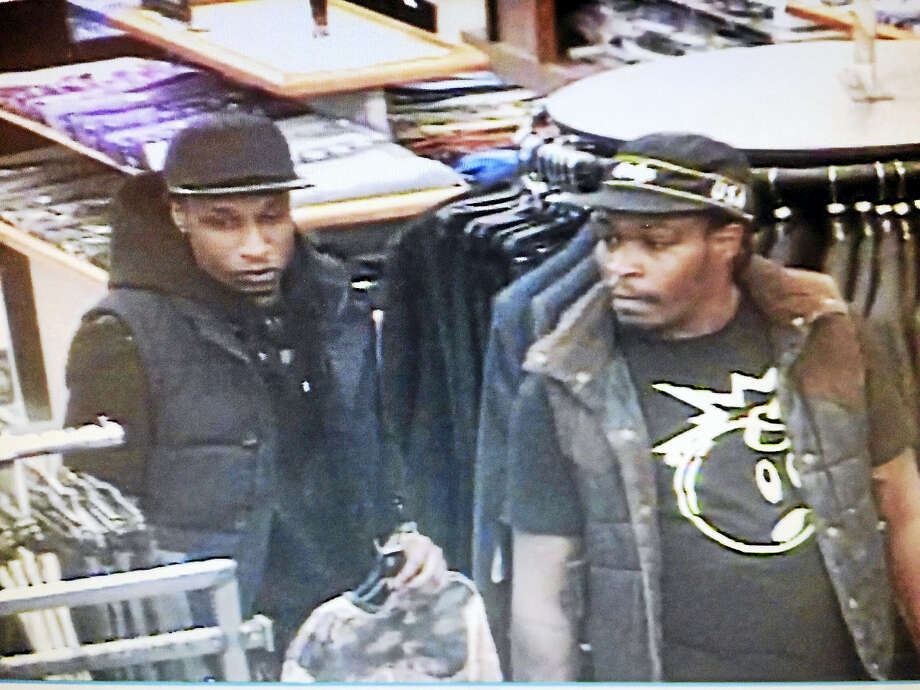 Police are asking the public to help them find two men who allegedly stole items Wednesday from two stores at the Clinton Crossings Premium Outlets. Photo: Courtesy Of Clinton Police Department