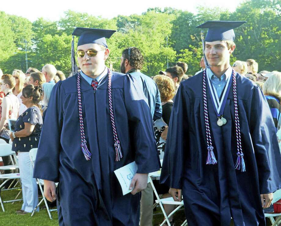 The class of 2016 graduated from The Morgan School in Clinton Thursday. Photo: Kelly Goddard — For The New Haven Register