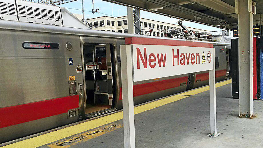 A train sits at New Haven's Union Station Photo: Wes Duplantier — New Haven Register