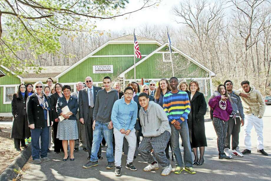 (Contributed) On March 22, the South Central Connecticut Regional Water Authority formally adopted New Haven's Common Ground High School in a new partnership. Photo: Journal Register Co.