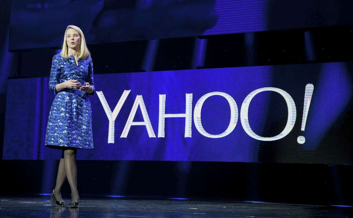 In this Jan. 7, 2014 photo, Yahoo president and CEO Marissa Mayer speaks during the International Consumer Electronics Show in Las Vegas.
