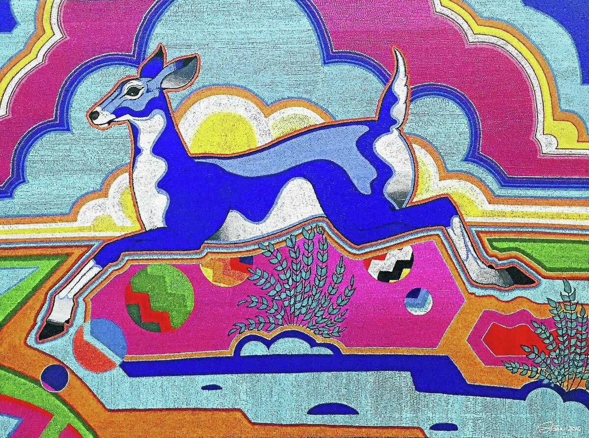 "Starr Hardridge's ""The Crossing"" is an example of indigenous art."