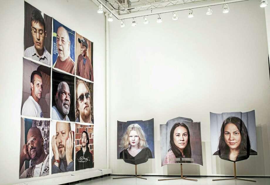 Monique Atherton's display at the MFA photo exhibit. Photo: Contributed