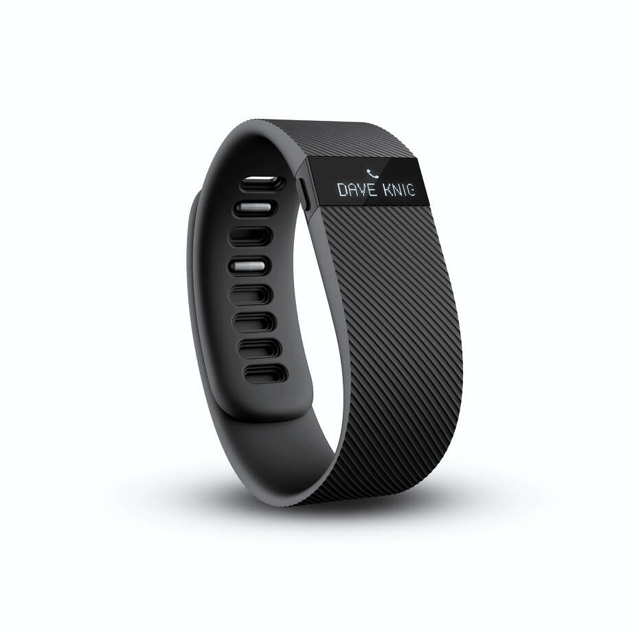 The Fitbit Charge in black, showing a phone call. Photo: Fitbit